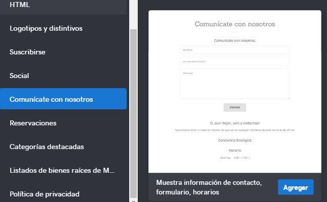 como-crear-un-blog-paso-11-formulario-de-contacto-creador-de-sitios-godaddy