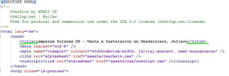 Paso 4 Establecer el titulo de la pagina HTML - como crear una pagina web en html