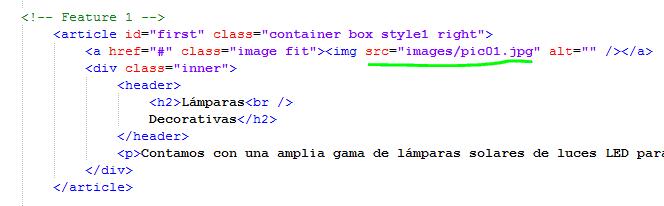 Paso 7 Buscar y sustituir imágenes pic01 en codigo - como crear una pagina web en html
