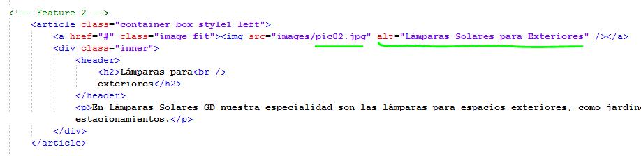 Paso 8 Describir imágenes con atributo alt - como crear una pagina web en html