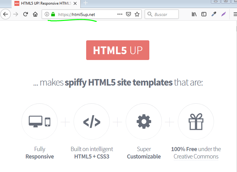 crear una pagina web en html con html5up