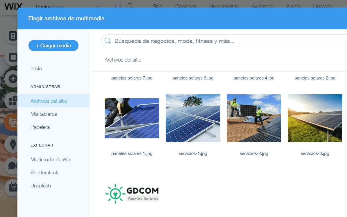 prepara fotos y videos de tu página web antes de comenzar el diseño