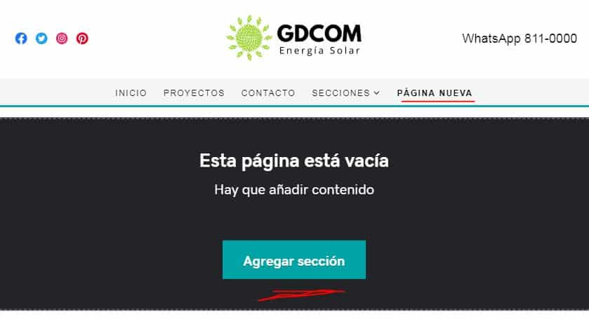 Cómo agregar una página nueva con el creador de sitios de GoDaddy