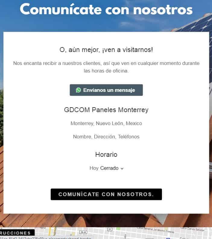 Cómo crear una sección de contacto con formulario y mapa de Google en tu página web