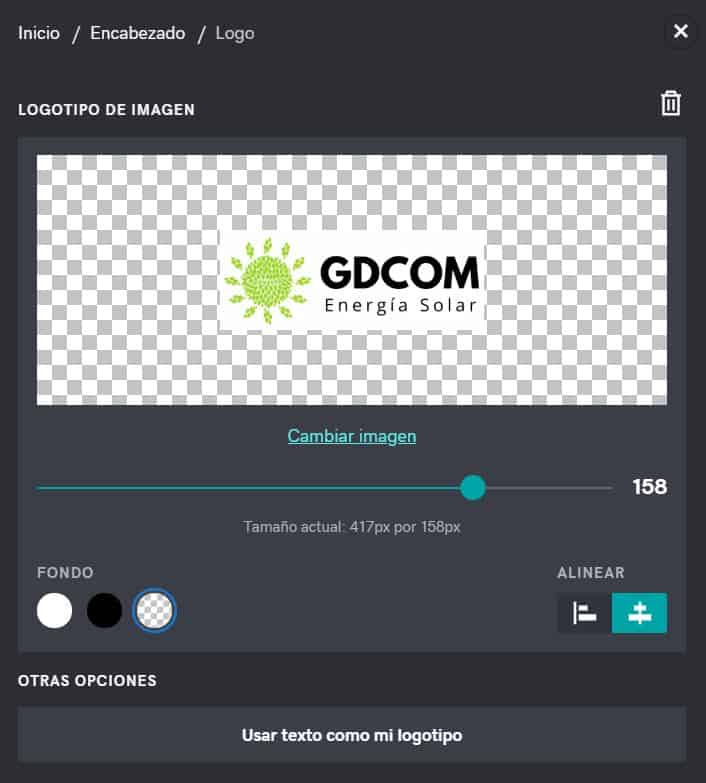 Subir el logo a la página web con el creador de sitios de GoDaddy